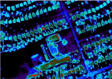 Roofs in the thermal Infrared from an airplane